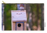 Eastern Bluebird Perched On Birdhouse 4 Carry-all Pouch