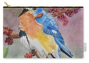 Eastern Bluebird Vertical  Carry-all Pouch
