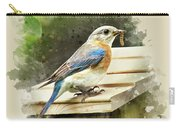 Eastern Bluebird Watercolor Art Carry-all Pouch