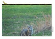 Eastern Coyote In Grass Carry-all Pouch