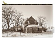 Eastern Montana Farmhouse Sepia Carry-all Pouch
