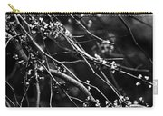 Eastern Redbud In Black And White Carry-all Pouch