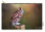 Eastern Screech Owl Red Morph Profile Carry-all Pouch
