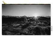 Eastern Sierra Sunset In Monochrome Carry-all Pouch