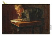 Eastman Johnson - Reading Boy Carry-all Pouch
