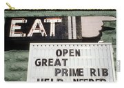 Eat Sign Carry-all Pouch