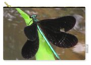 Ebony Jewel Damselfly Carry-all Pouch