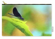Ebony Jewelwing Damselfly Carry-all Pouch