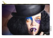 Eccentric Mad Fashion Hatter In Colourful Makeup Carry-all Pouch