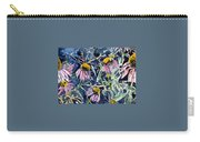 Echinacea Cone Flower Art Carry-all Pouch