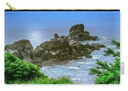 Ecola State Park Oregon 2 Carry-all Pouch by Shiela Kowing