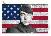 Eddie Rickenbacker And The American Flag Carry-all Pouch