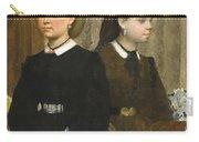 Edgar Degas - The Bellelli Sisters Giovanna And Giuliana Bellelli Carry-all Pouch
