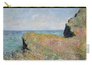 Edge Of The Cliff Pourville Carry-all Pouch by Claude Monet