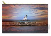 Edgewater Lighthouse Sunset Carry-all Pouch