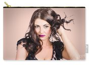 Edgy Hair Fashion Model With Brunette Hairstyle Carry-all Pouch