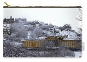 Edinburgh Castle And National Galleries Of Scotland In Winter Carry-all Pouch