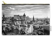 Edinburgh From Calton Hill.    Black And White Carry-all Pouch