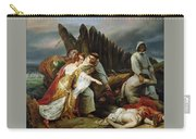 Edith Finding The Body Of Harold Horace Vernet Carry-all Pouch