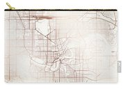 Edmonton Street Map Colorful Copper Modern Minimalist Carry-all Pouch