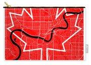 Edmonton Street Map - Edmonton Canada Road Map Art On Canada Flag Symbols Carry-all Pouch
