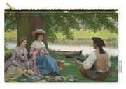 Edmund Blair Leighton 1852-1922 A Picnic Party Carry-all Pouch