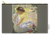 Edmund Charles Tarbell - Mercie Cutting Flowers 1912 Carry-all Pouch