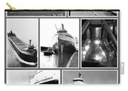 Edmund Fitzgerald Black And White Carry-all Pouch