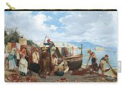 Eduardo Matania - Fishing Family In The Bay Of Naples 1872 Carry-all Pouch