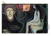 Edvard Munch - Girl And Three Mens Heads 1895-98 Carry-all Pouch