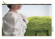 Edwardian Woman In A Summer Garden  Carry-all Pouch