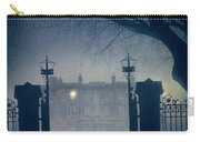 Eerie Mansion In Fog At Night Carry-all Pouch