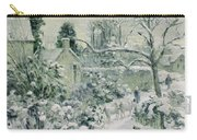 Effect Of Snow With Cows At Montfoucault Carry-all Pouch by Camille Pissarro
