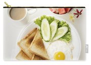 Egg Salad Toast Fruit And Coffee Breakfast Set Carry-all Pouch