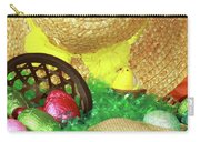 Eggs And A Bonnet For Easter Carry-all Pouch