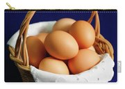 Eggs In A Wicker Basket. Carry-all Pouch