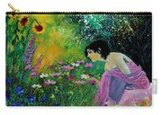 Eglantine With Flowers Carry-all Pouch