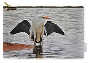 Egret And Cormorant Wings Carry-all Pouch
