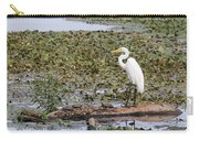 Egret And Turtles Carry-all Pouch