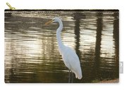 Egret At Waters Edge Carry-all Pouch