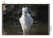 Egret Catches A Stickleback Carry-all Pouch