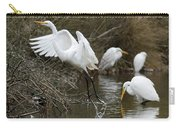 Egret Exit Carry-all Pouch by George Randy Bass