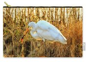 Egret Fishing In Sunset At Forsythe National Wildlife Refuge Carry-all Pouch