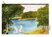 Egret Flying Over Texas Landscape Carry-all Pouch
