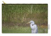 Egret In A Field, No. 1 Carry-all Pouch