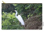 Egret In A Tree Carry-all Pouch