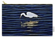 Egret In Blue Carry-all Pouch