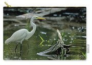 Egret In The Swamp Carry-all Pouch