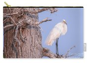 Egret In Tree Carry-all Pouch