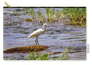 Egret On A Rock Carry-all Pouch